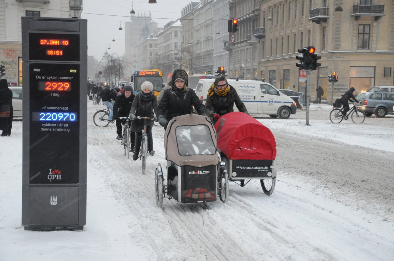 Winter biking in Copenhagen